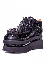 スタッズ厚底スニーカーOPION BLACK|ヘイディーズ-hades-靴ブランド通販