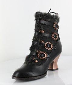 国内発送 ファーとベルトのローヒールショートブーツNEPHELE|ヘイディーズ-hades-靴ブランド通販