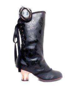 国内発送 同色ブラックルネサンス柄のブーツCLARA|ヘイディーズ-hades-靴ブランド通販