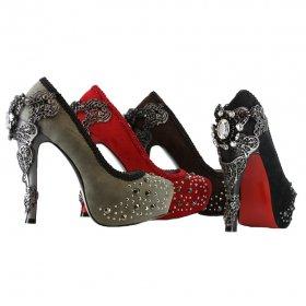 ビジューが付いてエレガントなパンプスAMINA|ヘイディーズ-hades-靴ブランド通販