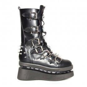 【海外取寄】ロックな厚底ブーツSTECHENはベルトとスタッズの装飾|ヘイディーズ-hades-靴ブランド通販