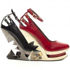 エナメルパンプスでヒールレスSHEEN|hadesブランド靴通販