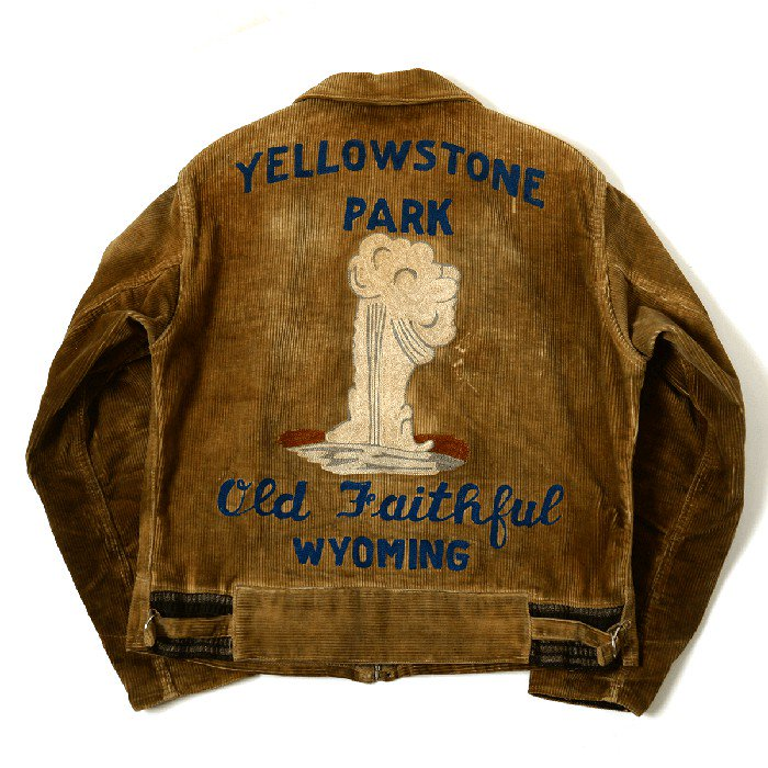 OLD CORDUROY SPORTS JACKET With EMBROIDERY