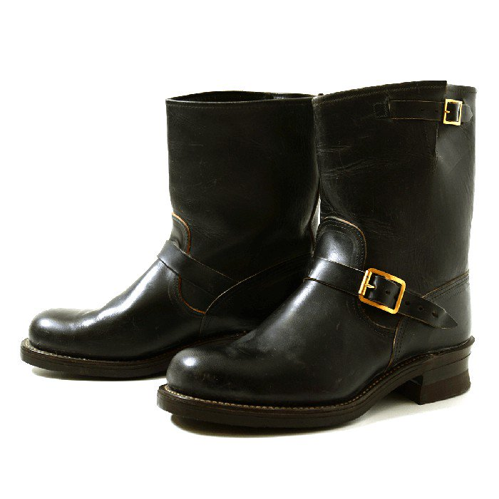 Santa Rosa Brand Horse Hide Engineer Boots(Deadstock)