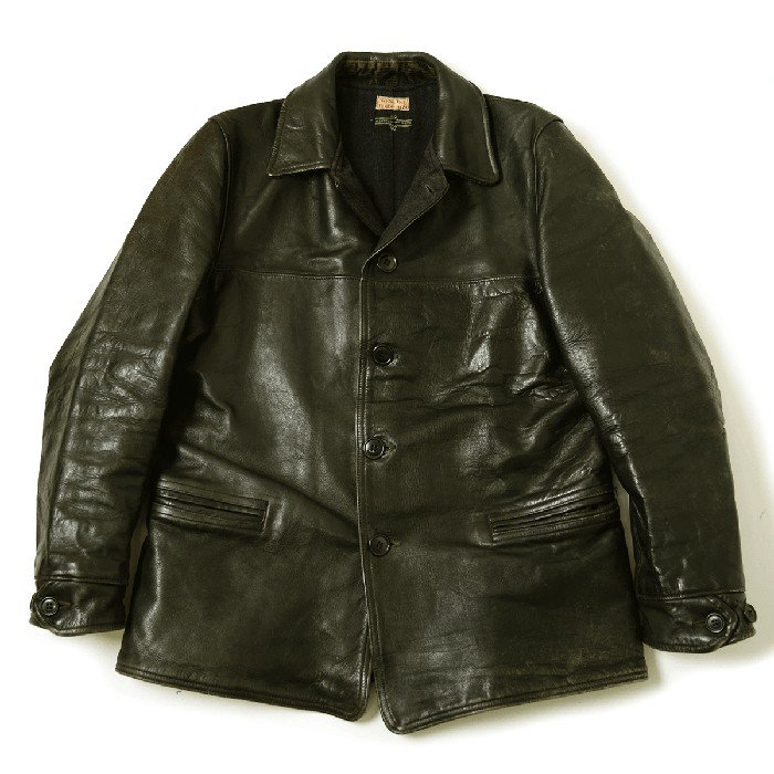 Montgomery Ward Horsehide Leather Car Coat