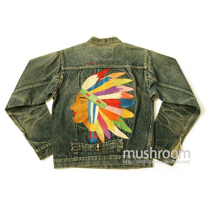 LEVIS 506XX DENIM JACKET With INDIAN HEAD