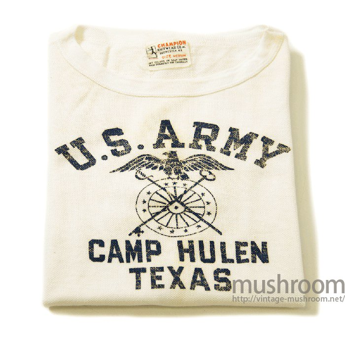 CHAMPION U.S.ARMY T-SHIRT With UNUSUAL MATERIAL