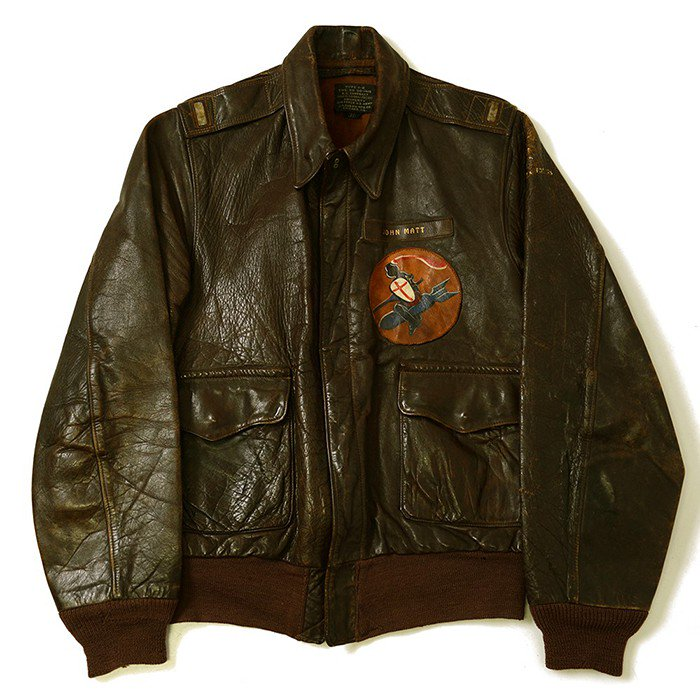 A-2 FLIGHT JACKET With SQUADRON PATCH