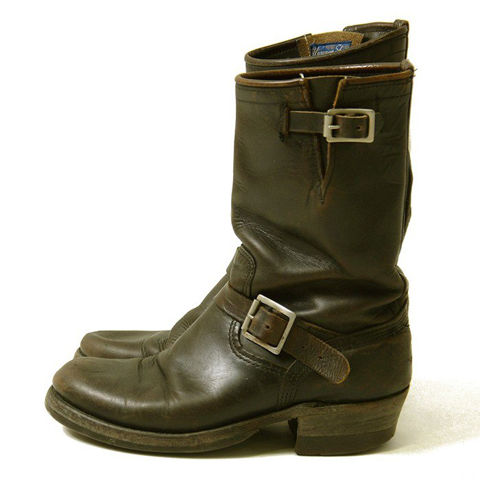Herman Shoes Horsehide Engineer Boots