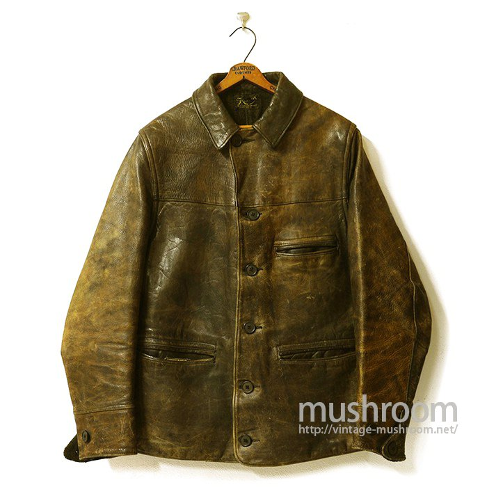 SINGLE BREASTED BROWN HORSEHIDE CAR COAT