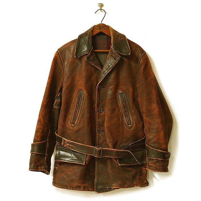 A.Pritsker Co Single Breasted Horsehide Car Coat