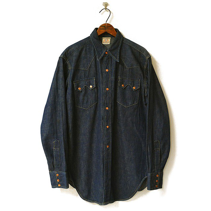 LEVIS SHORTHORN DENIM WESTERN SHIRT(MINT)