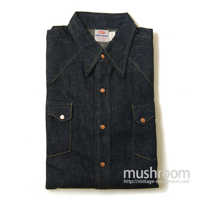 LEVIS DENIM FAMILY DENIM WESTERN SHIRT(DEADSTOCK)