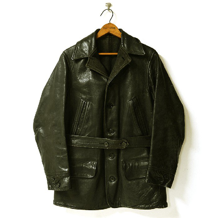 SINGLE BREASTED HORSEHIDE CAR COAT