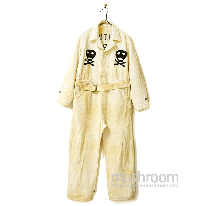 Lee DURA-BILT UNION-ALLS HBT ALL IN ONE With SKULL EMBRODERY