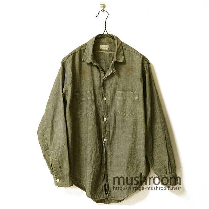 Stronghold Gray Chambray Shirt With Chinstrap