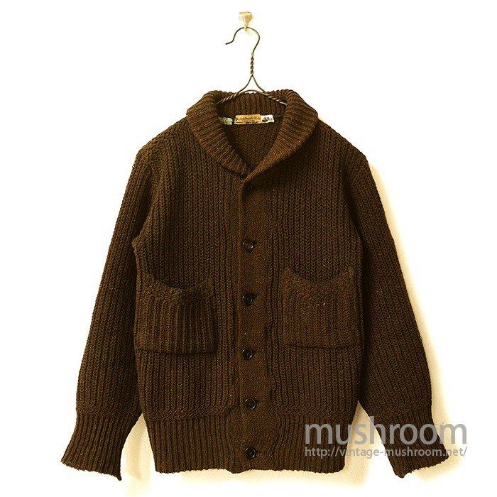 Peerless Sweater Mills Shawlcoller Shaker Cardigan(Mint)