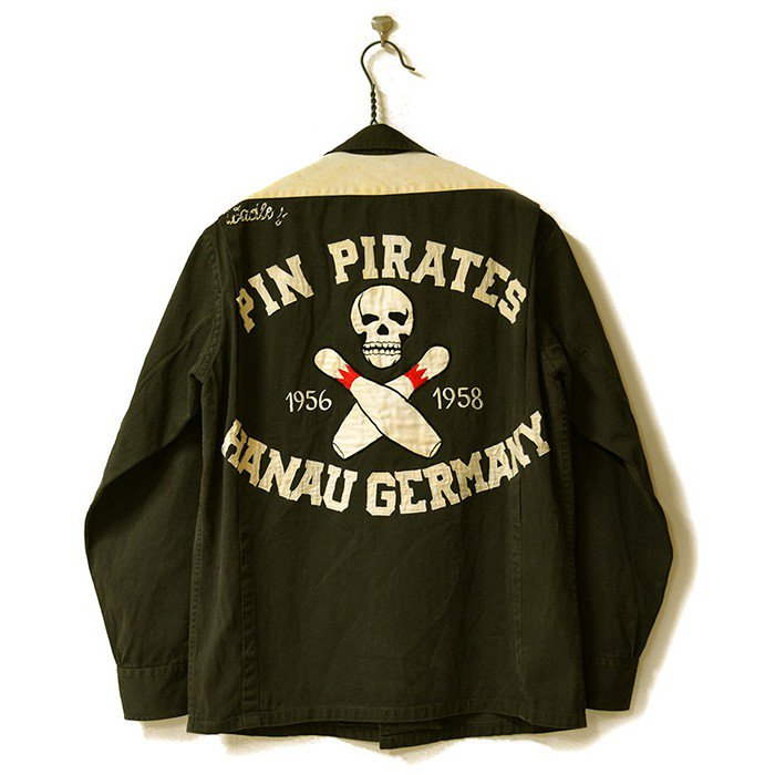 SKULL L/S COTTON BOWLING SHIRT