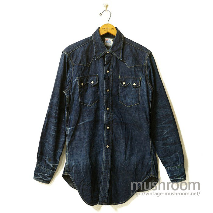 LEVIS SHORTHORN DENIM WESTERN SHIRT(SUPER TIGER STRIPE)