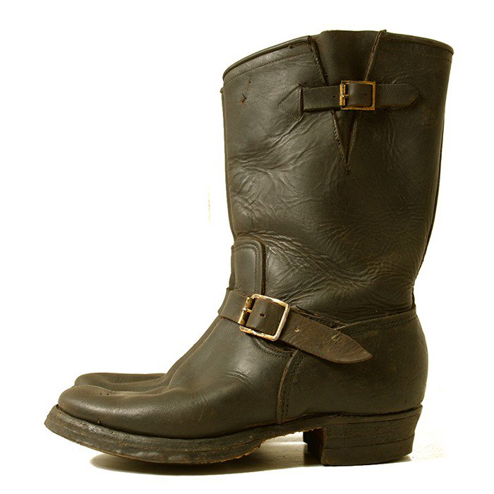PAIR-A-TROOPER HORSEHIDE ENGINEER BOOTS