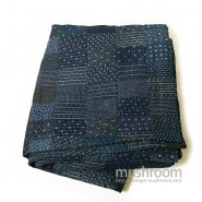 Antique Indigo Calico Patchwork Quilt( Deadstock )