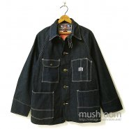 N&W DENIM COVERALL With CHINSTRAP( DEADSTOCK )