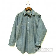 THE MILTON F GOODMAN CHAMBRAY WORK SHIRT With CHINSTRAP