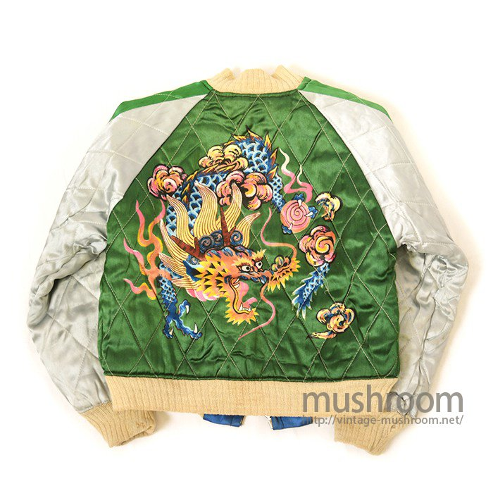 JAPAN SOUVENIR JACKET With HAND-PRINTED( DEADSTOCK )