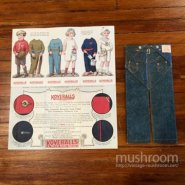 LEVIS TWO HORSE BRAND AND KOVERALLS PAPER CATALOG SET( MINT )