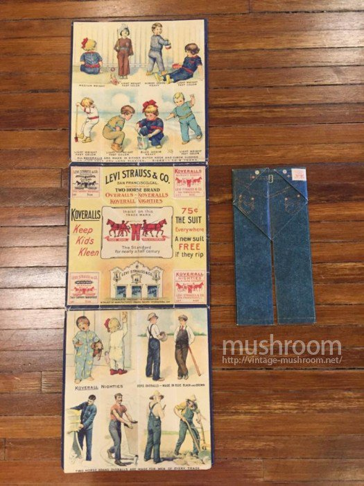 LEVIS TWO HORSE BRAND PAPER CATALOG