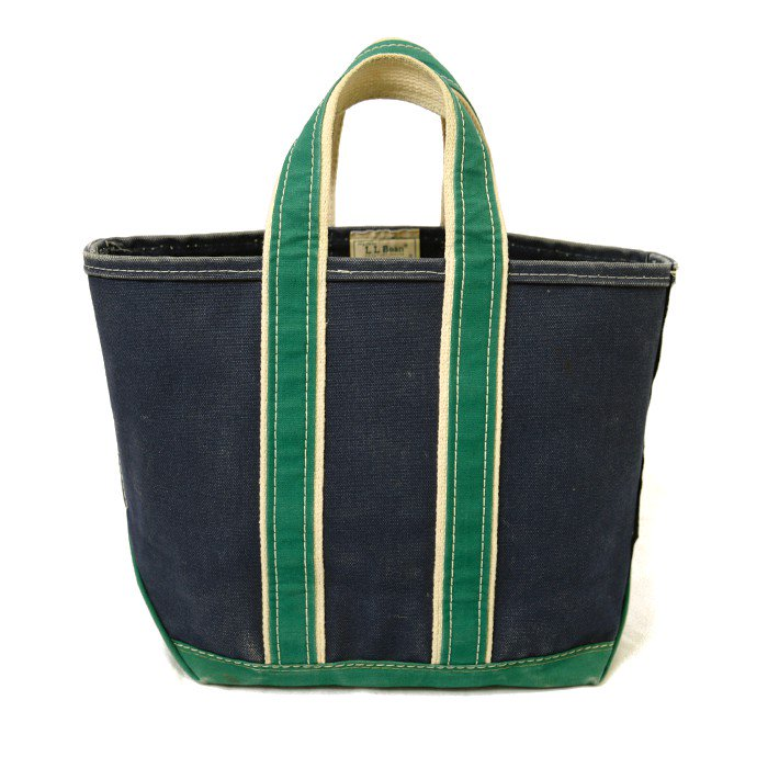 L.L.BEAN CANVAS TOTE BAG( NAVY&GREEN )