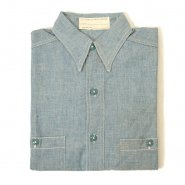 U.S.NAVY RESERVE CHAMBRAY SHIRT( NON-WASHED/MINT )