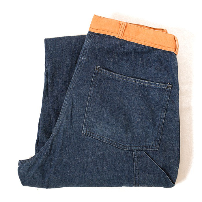 TWO-TONE DOUBLE KNEE DENIM WORK TROUSER
