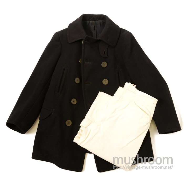 WW1 U.S.NAVY 10 BUTTON P-COAT With TROUSER