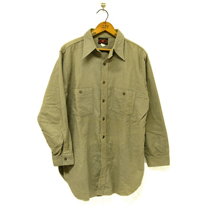ZEROTEX FLANNEL WORK SHIRT With CHINSTRAP