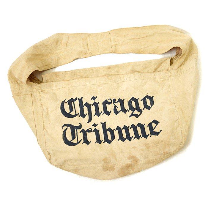 OLD NEWSPAPER CANVAS BAG With POCKET