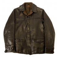 SINGLE BREASTED HORSEHIDE LEATHER CAR COAT