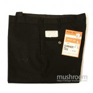OLD BLACK TAPERED PANTS( W34/L32/DEADSTOCK )