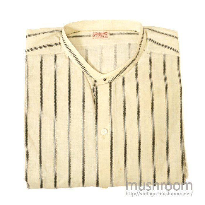 PILGRIM COTTON PULLOVER WORK SHIRT WITH CHANGEABLE COLLER( DEADSTOCK )