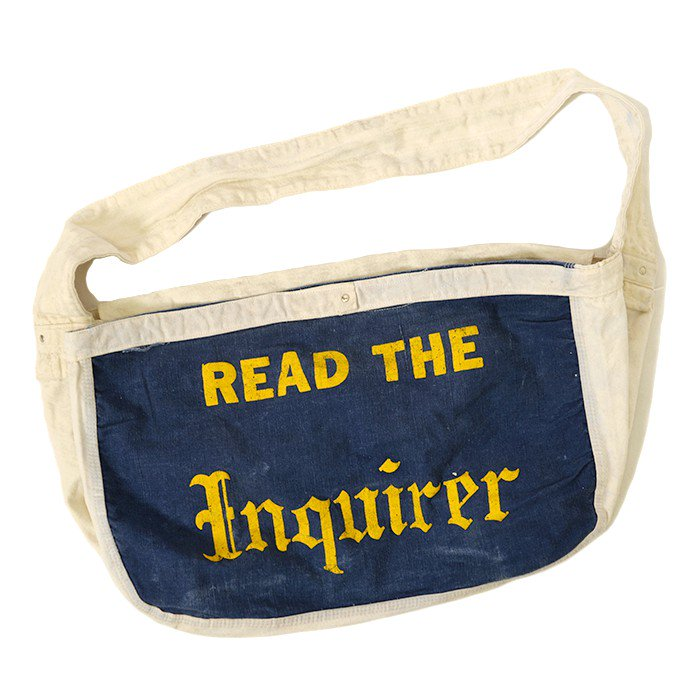 OLD TWO-TONE NEWSPAPER CANVAS BAG