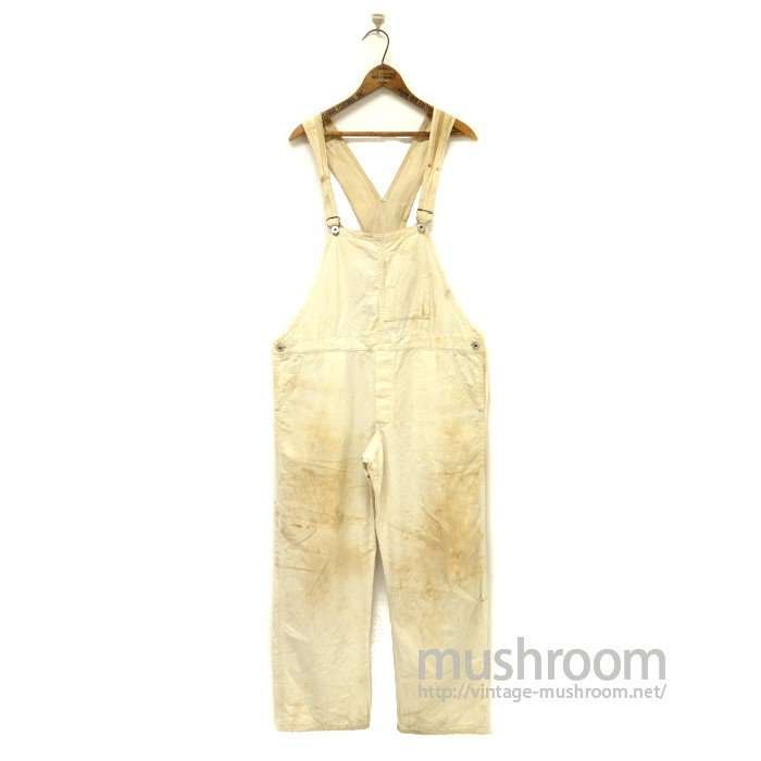 THE NEWPORT WHITE COTTON OVERALLS