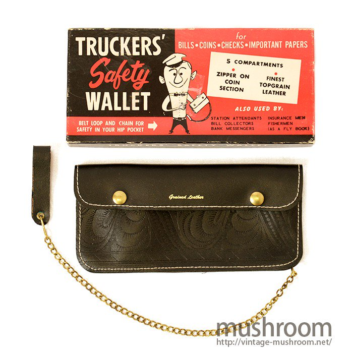 OLD TRUCKER'S LEATHER WALLET( BLACK/DEADSTOCK )