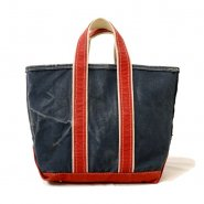 L.L.BEAN CANVAS TOTE BAG( NAVY&RED )