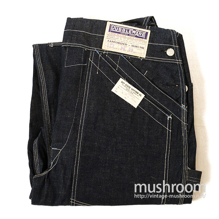 DUBBLEWARE DOUBLE KNEE DENIM OVERALLS( DEADSTOCK )