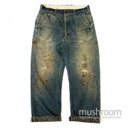 OLD DENIM WORK TROUSERS