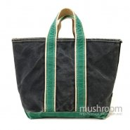 L.L.BEAN TWO-TONE CANVAS TOTE BAG( NAVY&GREEN )