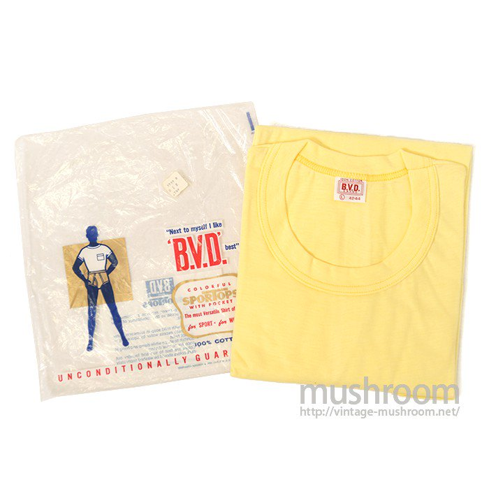 BVD PLAIN COTTON POCKET T-SHIRT( DEADSTOCK )