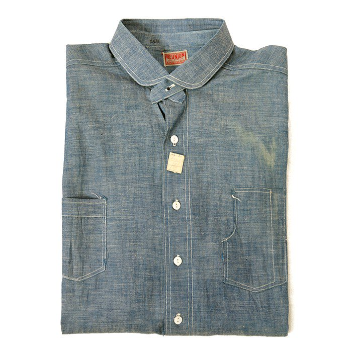 RENUION ENGINEER CHAMBRAY SHIRT( DEADSTOCK )