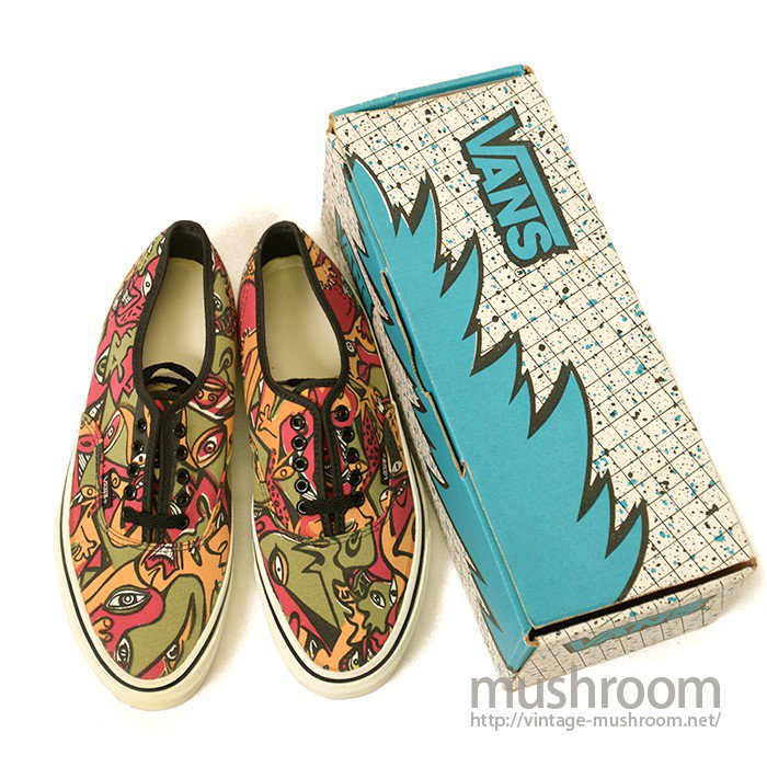 VANS AUTHENTIC CANVAS  SHOES( NIGHT EYES/DEADSTOCK )