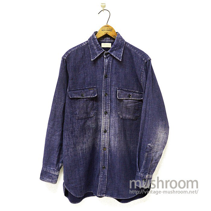 L.L.BEAN INDIGO COLOR COTTON SHIRT